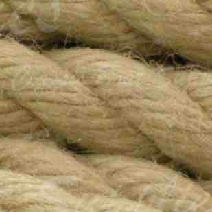 twisted natural fibre hemp rope